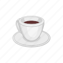 aroma, brown, cartoon, coffee, cup, drink, espresso icon