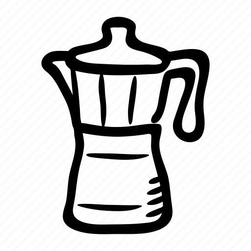 beverage, coffee maker, coffee pot, coffee press, espresso, moka pot icon