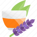 ceremony, flower, purple, tea icon