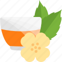 ceremony, flower, sheet, tea icon