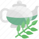 ceremony, drink, greenery, kettle, tea icon