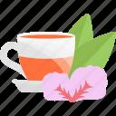 ceremony, herbs, sheet, tea icon