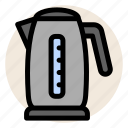 coffee, drink, hot water, kettle, tea, water icon
