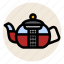 drink, hot drink, strain, strainer, tea, teapot icon