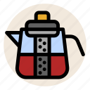 drink, filter, hot drink, strain, strainer, tea, teapot icon