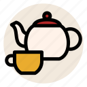 beverage, cup, drink, hot drink, mug, tea, teapot icon