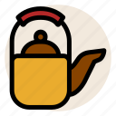 beverage, drink, hot drink, tea, teapot icon