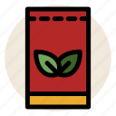 beverage, drink, hot drink, package, tea, tea bag, tea leaves icon