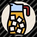 beverage, cold drink, drink, ice, ice tea, jug, tea icon