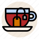 beverage, cup, drink, hot drink, mug, tea, tea bag icon