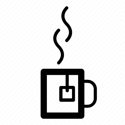 cup, drink, hot, hot drink, mug, tea, tea bag icon