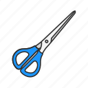 crop, cut, educational supply, office supply, scissor, tool, trim icon