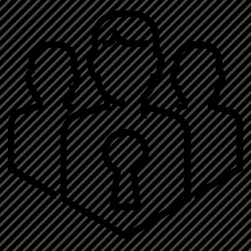 access, enter, group, login, open, team, unlock icon