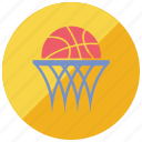 ball, basket, basketball, sports, teams icon