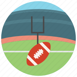 field, football, sports, target icon