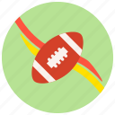 football, ribbons, sports, teams icon