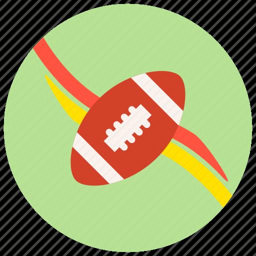 football, ribbons, sports, teams icon