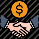 cooperation, handshake, money, partnership, successful, team, teamwork