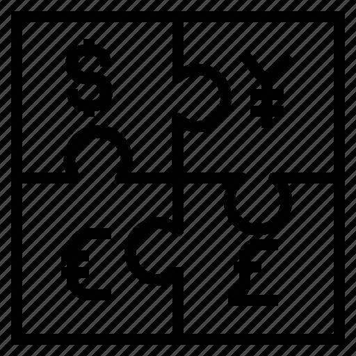 jigsaw, money icon