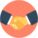 business partner, businessmen, deal, handshake, shake hand icon