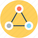 connections, diagram, network, shape, triangle icon