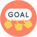 gain, goal, partnership, success, team success icon