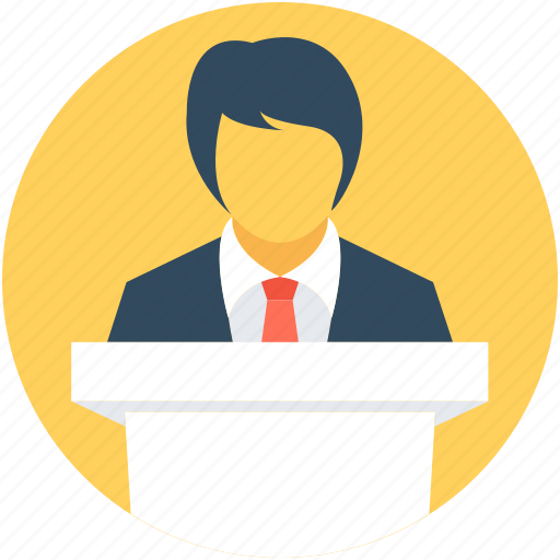 conference, lecture, presentation, public speaker, speech icon