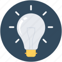 bulb, idea, illuminate, light icon