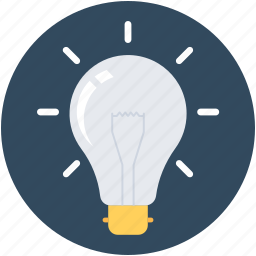 bulb, idea, illuminate, light icon
