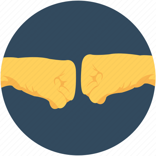 business, coalition, cooperation, decision, fist bump icon