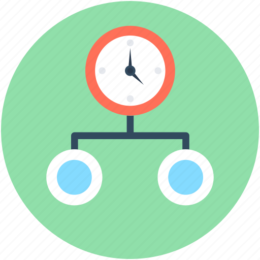 hierarchy, project scheme, project time, strategy, timer icon