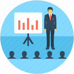 lecture, meeting, presentation, training, tutor icon