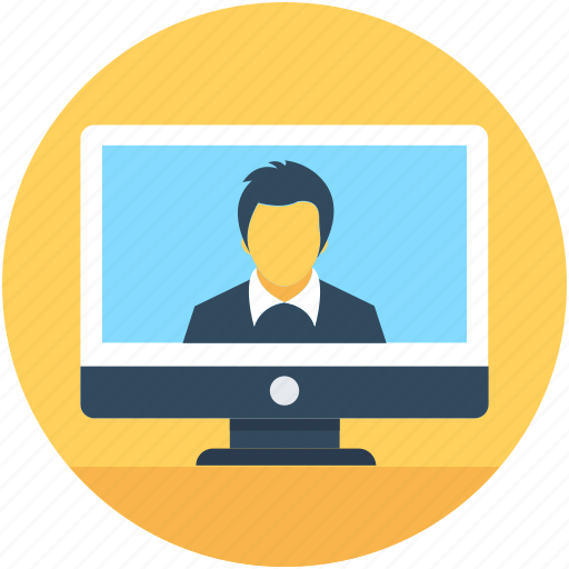 chat support, customer support, live chat, monitor, video call icon