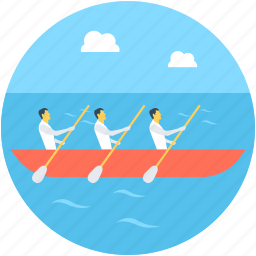 boating, collaboration, partition, rowing, team icon