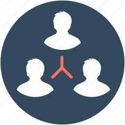 collaboration, group, management, organization structure, team icon