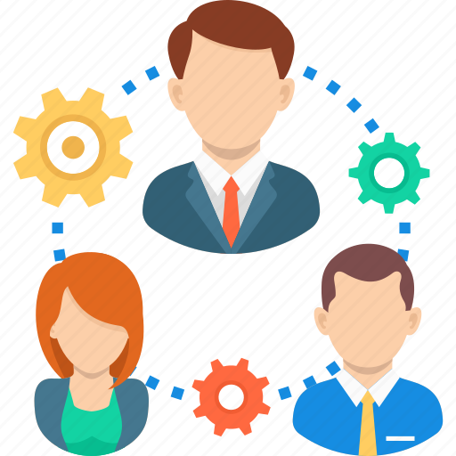 business, cooperate, gear, management, team, teamwork icon