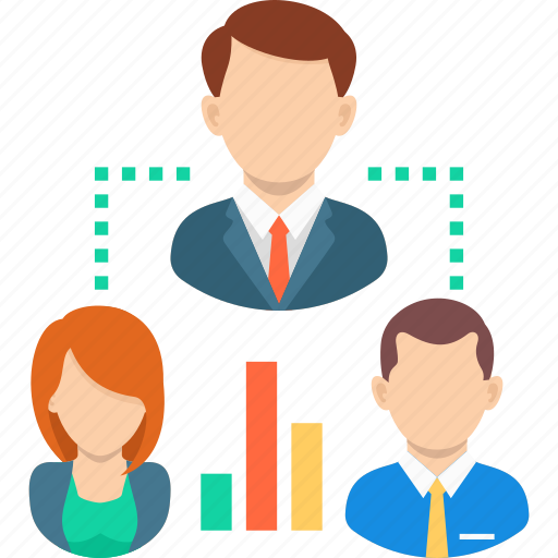 business, graph, growth, relationship, team, work icon