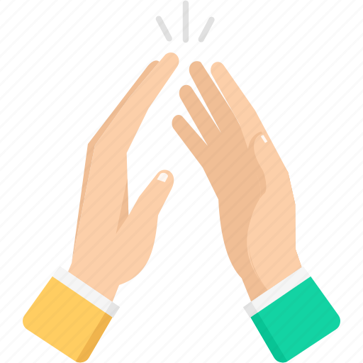 celebration, hand, office, relationship, team, work icon
