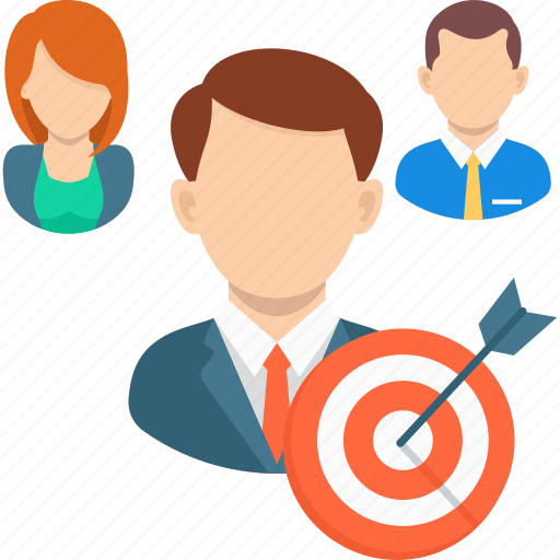 audience targeting, business, communication, marketing, people, target icon