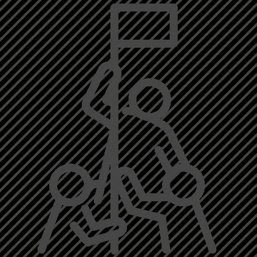 achievement, business, company, success, team, teamwork icon