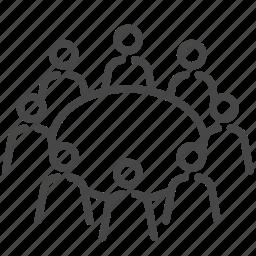 business, company, meeting, member, team, teamwork icon