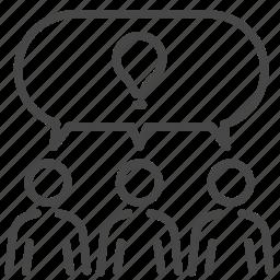 brainstorm, business, company, idea, share, teamwork icon