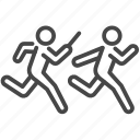 business, company, relay race, run, team, teamwork icon