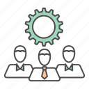 business, gear, team, teamwork icon