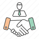 business, deal, hand, team, teamwork icon