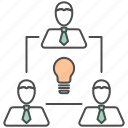 business, creative, idea, team, teamwork icon