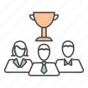 business, prize, team, teamwork, win, winner icon