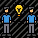 brainstorm, idea, innovation, partner, team
