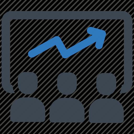 business, meeting, presentation icon