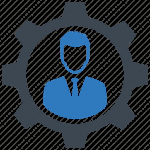 management, setting, work icon